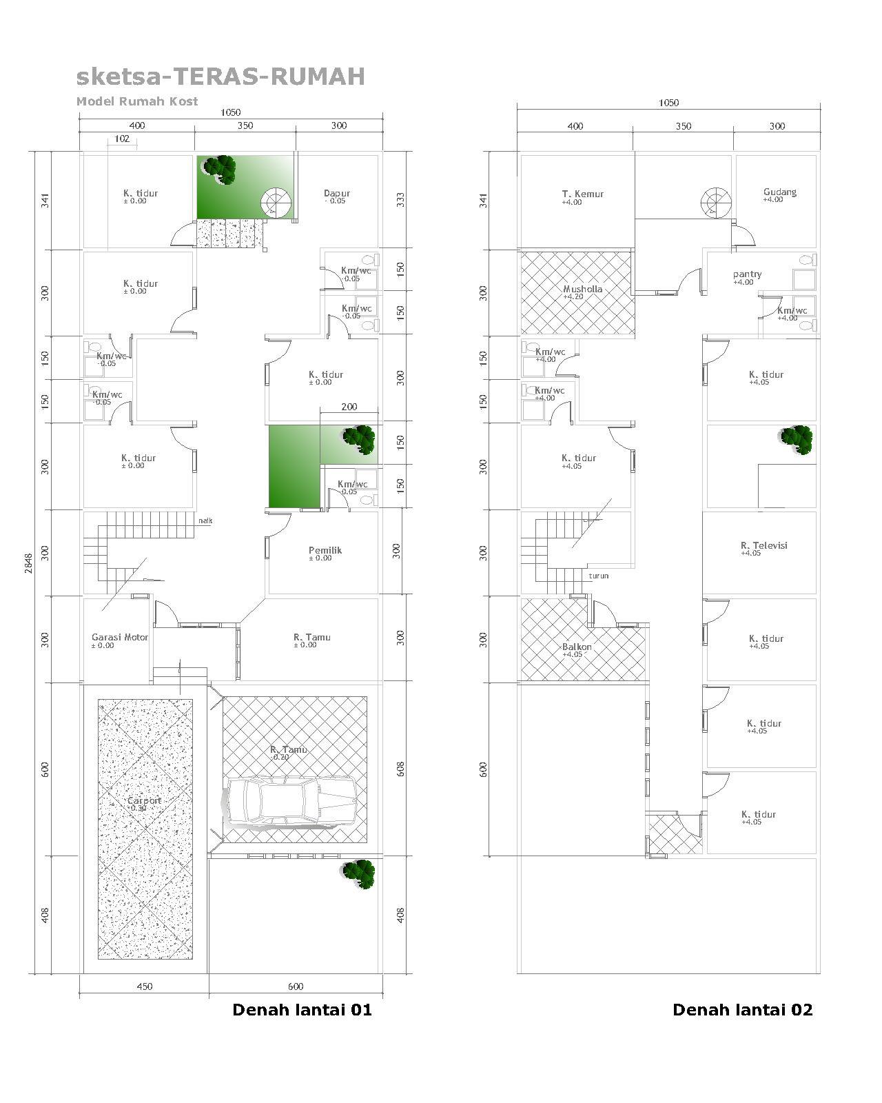 rumah mas andri di lahan 7 19 m2 aguscwid