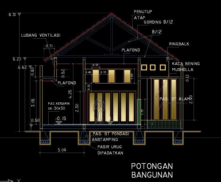 Desain Rumah Minimalis Ukuran 7x12 Meter  living