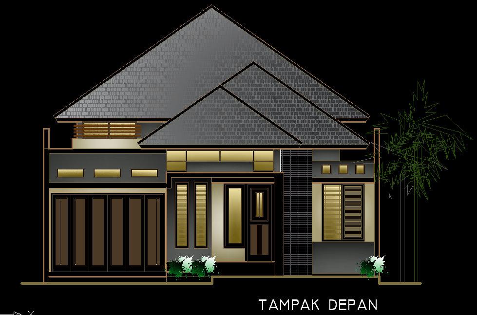 desain rumah berkamar banyak di lahan 10x26m2 aguscwid