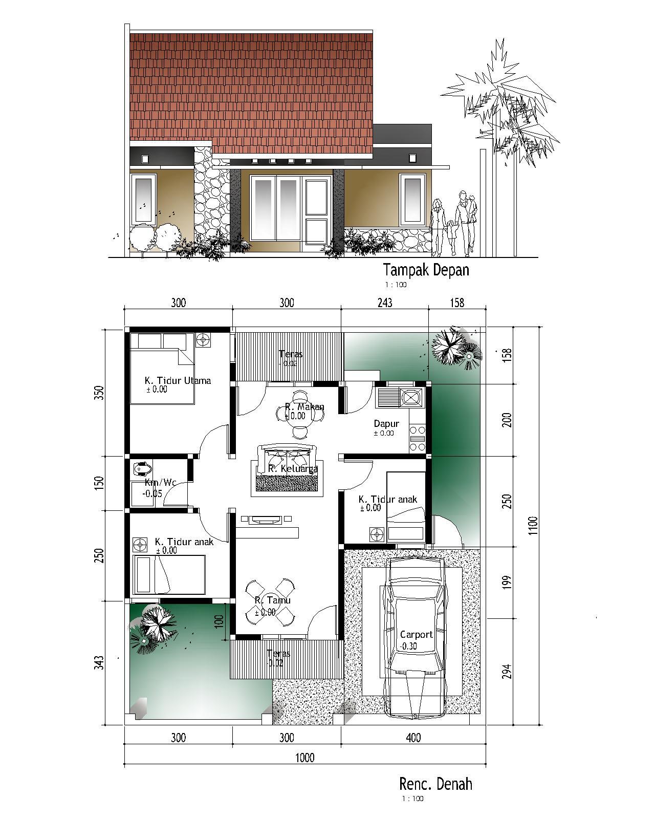 Rumah Tumbuh Sederhana Tipe 56 M2 Aguscwid
